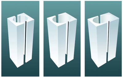 Polystyrene re-usable columns